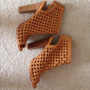 Candela woven leather booties